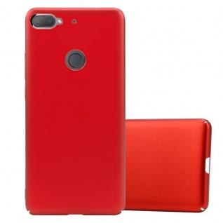 Cadorabo Hülle für HTC Desire 12 PLUS in METALL ROT Hardcase Handyhülle aus Plastik gegen Kratzer und Stöße Schutzhülle Bumper Ultra Slim Back Case Hard Cover