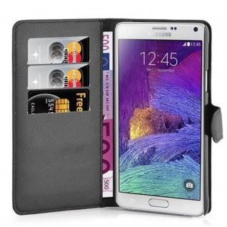 Cadorabo Hülle für Samsung Galaxy NOTE 4 in PHANTOM SCHWARZ - Handyhülle mit Magnetverschluss, Standfunktion und Kartenfach - Case Cover Schutzhülle Etui Tasche Book Klapp Style