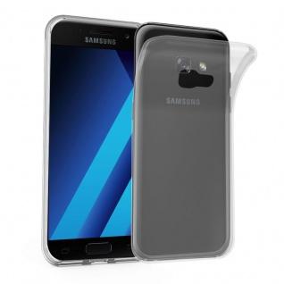 Cadorabo Hülle für Samsung Galaxy A7 2017 in VOLL TRANSPARENT - Handyhülle aus flexiblem TPU Silikon - Silikonhülle Schutzhülle Ultra Slim Soft Back Cover Case Bumper