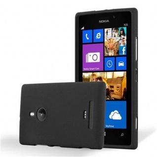 Cadorabo Hülle für Nokia Lumia 925 in FROST SCHWARZ - Handyhülle aus flexiblem TPU Silikon - Silikonhülle Schutzhülle Ultra Slim Soft Back Cover Case Bumper