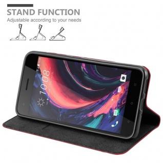 Cadorabo Hülle für HTC Desire 10 PRO in APFEL ROT - Handyhülle mit Magnetverschluss, Standfunktion und Kartenfach - Case Cover Schutzhülle Etui Tasche Book Klapp Style - Vorschau 4