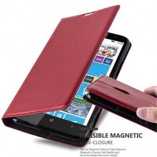Cadorabo Hülle für Nokia Lumia 1320 in APFEL ROT - Handyhülle mit Magnetverschluss, Standfunktion und Kartenfach - Case Cover Schutzhülle Etui Tasche Book Klapp Style