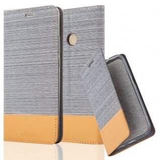 Cadorabo Hülle für Xiaomi MAX 2 in HELL GRAU BRAUN - Handyhülle mit Magnetverschluss, Standfunktion und Kartenfach - Case Cover Schutzhülle Etui Tasche Book Klapp Style
