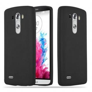 Cadorabo Hülle für LG G3 in CANDY SCHWARZ - Handyhülle aus flexiblem TPU Silikon - Silikonhülle Schutzhülle Ultra Slim Soft Back Cover Case Bumper