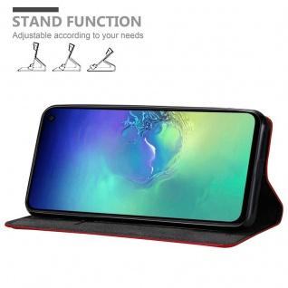 Cadorabo Hülle für Samsung Galaxy S10e in APFEL ROT Handyhülle mit Magnetverschluss, Standfunktion und Kartenfach Case Cover Schutzhülle Etui Tasche Book Klapp Style - Vorschau 4