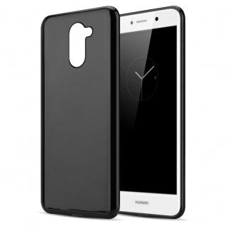 Cadorabo Hülle für Huawei Enjoy 7 Plus in SCHWARZ Handyhülle aus flexiblem TPU Silikon Silikonhülle Schutzhülle Ultra Slim Soft Back Cover Case Bumper