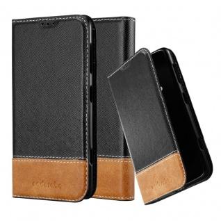 Cadorabo Hülle für Nokia Lumia 625 in SCHWARZ BRAUN ? Handyhülle mit Magnetverschluss, Standfunktion und Kartenfach ? Case Cover Schutzhülle Etui Tasche Book Klapp Style