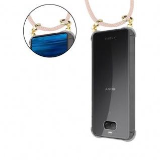 Cadorabo Handy Kette für Sony Xperia 10 in PERLIG ROSÉGOLD - Silikon Necklace Umhänge Hülle mit Gold Ringen, Kordel Band Schnur und abnehmbarem Etui ? Schutzhülle - Vorschau 5