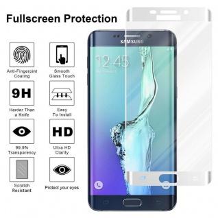 Cadorabo Vollbild Panzer Folie für Samsung Galaxy S6 EDGE PLUS - Schutzfolie in TRANSPARENT mit WEISS - Gehärtetes (Tempered) Display-Schutzglas in 9H Härte mit 3D Touch Kompatibilität - Vorschau 4