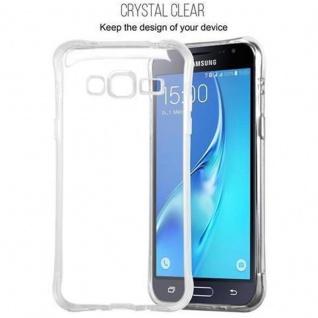 Cadorabo Hülle für Samsung Galaxy J3 2015 (5) - Hülle in KOMPLETT TRANSPARENT - Handyhülle aus TPU Silikon mit Schlaufe im Small Waist Design - Silikonhülle Schutzhülle Ultra Slim Soft Back Cover Case Bumper - Vorschau 2