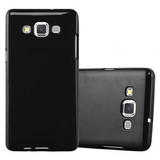 Cadorabo Hülle für Samsung Galaxy A5 2015 in JELLY SCHWARZ ? Handyhülle aus flexiblem TPU Silikon ? Silikonhülle Schutzhülle Ultra Slim Soft Back Cover Case Bumper