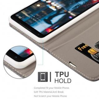 Cadorabo Hülle für Google Pixel 2 XL in GRAU SCHWARZ - Handyhülle mit Magnetverschluss, Standfunktion und Kartenfach - Case Cover Schutzhülle Etui Tasche Book Klapp Style - Vorschau 3