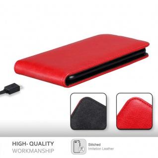 Cadorabo Hülle für Huawei Y330 in APFEL ROT Handyhülle im Flip Design mit Magnetverschluss Case Cover Schutzhülle Etui Tasche Book Klapp Style - Vorschau 3