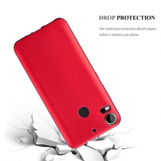 Cadorabo Hülle für HTC Desire 10 PRO in METALLIC ROT - Handyhülle aus flexiblem TPU Silikon - Silikonhülle Schutzhülle Ultra Slim Soft Back Cover Case Bumper - Vorschau 3