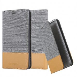Cadorabo Hülle für Huawei Y5 2018 in HELL GRAU BRAUN - Handyhülle mit Magnetverschluss, Standfunktion und Kartenfach - Case Cover Schutzhülle Etui Tasche Book Klapp Style