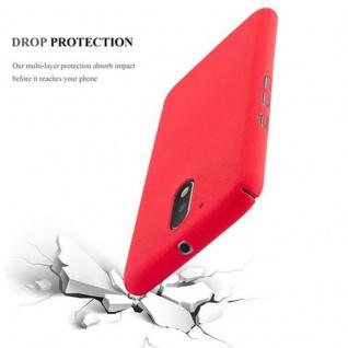 Cadorabo Hülle für Motorola MOTO G4 / MOTO G4 PLUS in FROSTY ROT - Hardcase Handyhülle aus Plastik gegen Kratzer und Stöße - Schutzhülle Bumper Ultra Slim Back Case Hard Cover - Vorschau 3