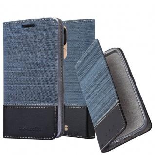 Cadorabo Hülle für WIKO VIEW LITE in DUNKEL BLAU SCHWARZ - Handyhülle mit Magnetverschluss, Standfunktion und Kartenfach - Case Cover Schutzhülle Etui Tasche Book Klapp Style