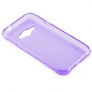 Cadorabo Hülle für Samsung Galaxy J1 ACE in TRANSPARENT LILA - Handyhülle aus flexiblem TPU Silikon - Silikonhülle Schutzhülle Ultra Slim Soft Back Cover Case Bumper - Vorschau 3