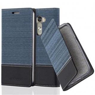 Cadorabo Hülle für LG G3 in DUNKEL BLAU SCHWARZ - Handyhülle mit Magnetverschluss, Standfunktion und Kartenfach - Case Cover Schutzhülle Etui Tasche Book Klapp Style