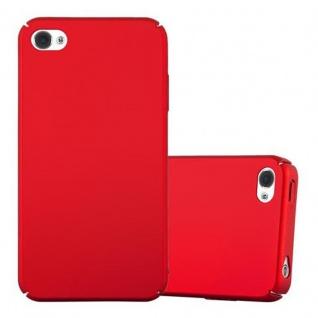 Cadorabo Hülle für Apple iPhone 4 / iPhone 4S in METALL ROT Hardcase Handyhülle aus Plastik gegen Kratzer und Stöße Schutzhülle Bumper Ultra Slim Back Case Hard Cover