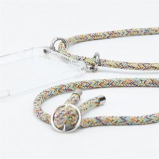 Cadorabo Handy Kette für Asus ZenFone 6 in RAINBOW Silikon Necklace Umhänge Hülle mit Silber Ringen, Kordel Band Schnur und abnehmbarem Etui Schutzhülle - Vorschau 2