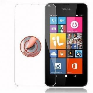 Cadorabo Panzer Folie für Nokia Lumia 532 - Schutzfolie in KRISTALL KLAR - Gehärtetes (Tempered) Display-Schutzglas in 9H Härte mit 3D Touch Kompatibilität