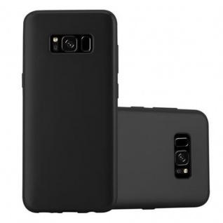 Cadorabo Hülle für Samsung Galaxy S8 in METALLIC SCHWARZ Handyhülle aus flexiblem TPU Silikon Silikonhülle Schutzhülle Ultra Slim Soft Back Cover Case Bumper