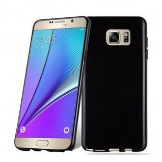 Cadorabo Hülle für Samsung Galaxy NOTE 5 in SCHWARZ - Handyhülle aus flexiblem TPU Silikon - Silikonhülle Schutzhülle Ultra Slim Soft Back Cover Case Bumper