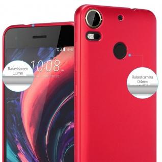 Cadorabo Hülle für HTC Desire 10 PRO in METALLIC ROT - Handyhülle aus flexiblem TPU Silikon - Silikonhülle Schutzhülle Ultra Slim Soft Back Cover Case Bumper - Vorschau 4