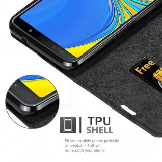 Cadorabo Hülle für Samsung Galaxy A7 2018 in NACHT SCHWARZ - Handyhülle mit Magnetverschluss, Standfunktion und Kartenfach - Case Cover Schutzhülle Etui Tasche Book Klapp Style - Vorschau 2