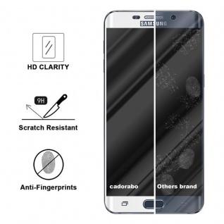 Cadorabo Vollbild Panzer Folie für Samsung Galaxy S6 EDGE PLUS - Schutzfolie in TRANSPARENT mit WEISS - Gehärtetes (Tempered) Display-Schutzglas in 9H Härte mit 3D Touch Kompatibilität - Vorschau 3