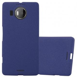 Cadorabo Hülle für Nokia Lumia 950 XL in FROST DUNKEL BLAU - Handyhülle aus flexiblem TPU Silikon - Silikonhülle Schutzhülle Ultra Slim Soft Back Cover Case Bumper