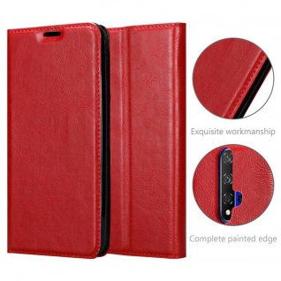 Cadorabo Hülle für Honor 20 in APFEL ROT Handyhülle mit Magnetverschluss, Standfunktion und Kartenfach Case Cover Schutzhülle Etui Tasche Book Klapp Style - Vorschau 5