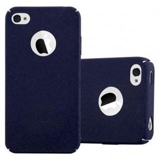 Cadorabo Hülle für Apple iPhone 4 / iPhone 4S in FROSTY BLAU - Hardcase Handyhülle aus Plastik gegen Kratzer und Stöße - Schutzhülle Bumper Ultra Slim Back Case Hard Cover