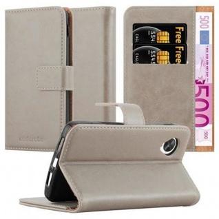 Cadorabo Hülle für LG NEXUS 5 in CAPPUCCINO BRAUN ? Handyhülle mit Magnetverschluss, Standfunktion und Kartenfach ? Case Cover Schutzhülle Etui Tasche Book Klapp Style