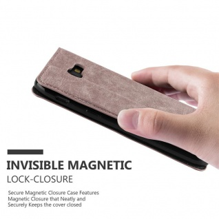 Cadorabo Hülle für Samsung Galaxy A7 2017 in KAFFEE BRAUN - Handyhülle mit Magnetverschluss, Standfunktion und Kartenfach - Case Cover Schutzhülle Etui Tasche Book Klapp Style - Vorschau 5