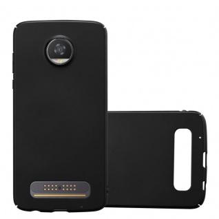Cadorabo Hülle für Motorola MOTO Z2 PLAY in METALL SCHWARZ - Hardcase Handyhülle aus Plastik gegen Kratzer und Stöße - Schutzhülle Bumper Ultra Slim Back Case Hard Cover