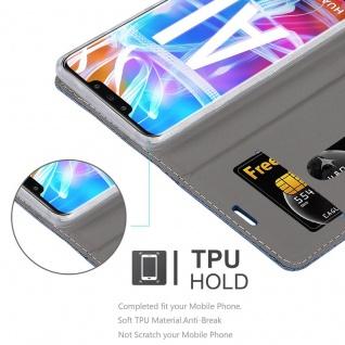 Cadorabo Hülle für Huawei MATE 20 LITE in DUNKEL BLAU SCHWARZ - Handyhülle mit Magnetverschluss, Standfunktion und Kartenfach - Case Cover Schutzhülle Etui Tasche Book Klapp Style - Vorschau 2