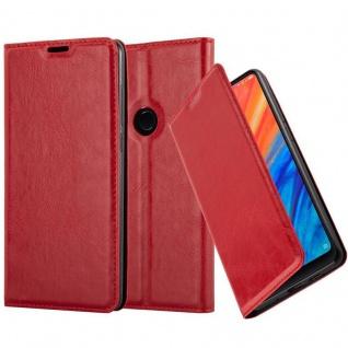 Cadorabo Hülle für Xiaomi Mix 2S in APFEL ROT - Handyhülle mit Magnetverschluss, Standfunktion und Kartenfach - Case Cover Schutzhülle Etui Tasche Book Klapp Style