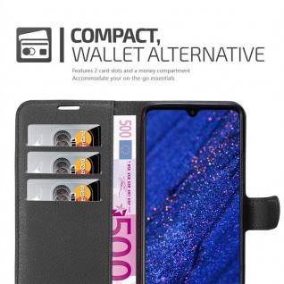 Cadorabo Hülle für Huawei MATE 20 in PHANTOM SCHWARZ - Handyhülle mit Magnetverschluss, Standfunktion und Kartenfach - Case Cover Schutzhülle Etui Tasche Book Klapp Style - Vorschau 5