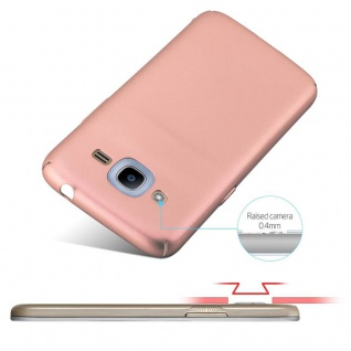 Cadorabo Hülle für Samsung Galaxy J2 2016 in METALL ROSÉ GOLD - Hardcase Handyhülle aus Plastik gegen Kratzer und Stöße - Schutzhülle Bumper Ultra Slim Back Case Hard Cover - Vorschau 4