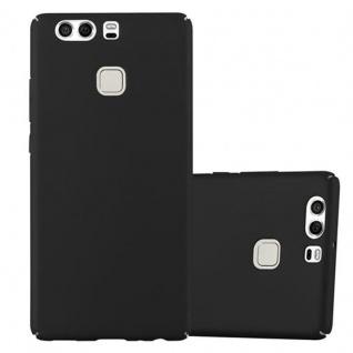 Cadorabo Hülle für Huawei P9 in METALL SCHWARZ - Hardcase Handyhülle aus Plastik gegen Kratzer und Stöße - Schutzhülle Bumper Ultra Slim Back Case Hard Cover
