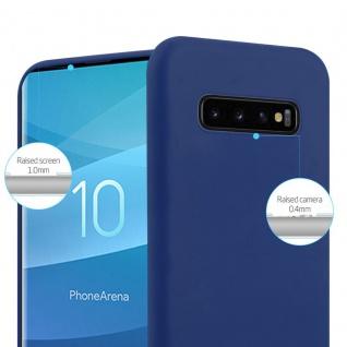 Cadorabo Hülle für Samsung Galaxy S10 PLUS in CANDY DUNKEL BLAU - Handyhülle aus flexiblem TPU Silikon - Silikonhülle Schutzhülle Ultra Slim Soft Back Cover Case Bumper - Vorschau 3