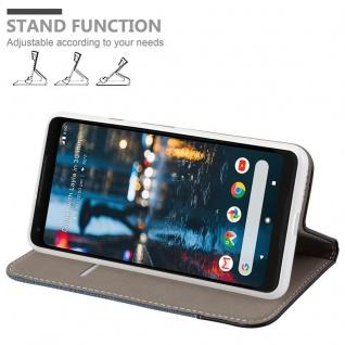 Cadorabo Hülle für Google Pixel 2 XL in DUNKEL BLAU SCHWARZ - Handyhülle mit Magnetverschluss, Standfunktion und Kartenfach - Case Cover Schutzhülle Etui Tasche Book Klapp Style - Vorschau 4