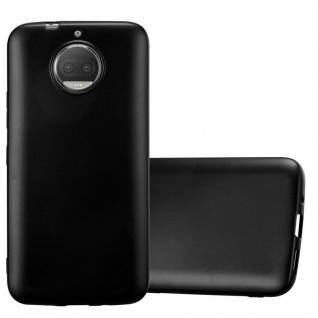 Cadorabo Hülle für Motorola MOTO G5S PLUS in METALLIC SCHWARZ - Handyhülle aus flexiblem TPU Silikon - Silikonhülle Schutzhülle Ultra Slim Soft Back Cover Case Bumper