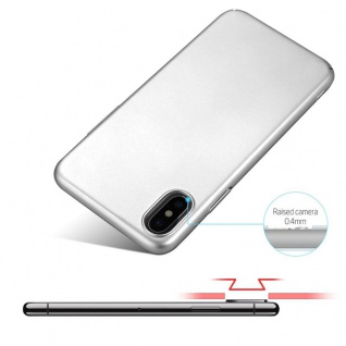 Cadorabo Hülle für Apple iPhone X / XS in METALL SILBER ? Hardcase Handyhülle aus Plastik gegen Kratzer und Stöße ? Schutzhülle Bumper Ultra Slim Back Case Hard Cover - Vorschau 4