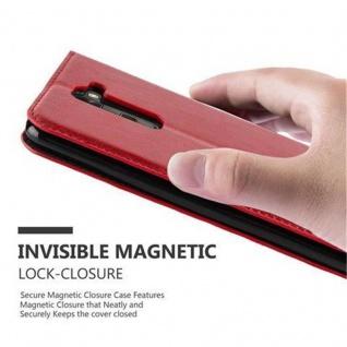 Cadorabo Hülle für LG STYLUS 2 in APFEL ROT Handyhülle mit Magnetverschluss, Standfunktion und Kartenfach Case Cover Schutzhülle Etui Tasche Book Klapp Style - Vorschau 5
