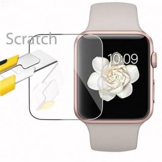 Cadorabo - Gehärtetes (Tempered) Glas Panzerglas Schutzfolie Displayschutzfolie für Apple Watch Series 1 & Apple Watch Series 2 Smartwatch iWatch 42mm Display Schutzglas 0, 3mm abgerundete Kanten ? HOCH-TRANSPARENT - Vorschau 2