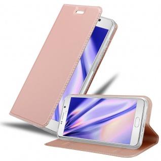 Cadorabo Hülle für Samsung Galaxy NOTE 5 in CLASSY ROSÉ GOLD Handyhülle mit Magnetverschluss, Standfunktion und Kartenfach Case Cover Schutzhülle Etui Tasche Book Klapp Style