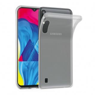 Cadorabo Hülle für Samsung Galaxy M10 in VOLL TRANSPARENT - Handyhülle aus flexiblem TPU Silikon - Silikonhülle Schutzhülle Ultra Slim Soft Back Cover Case Bumper
